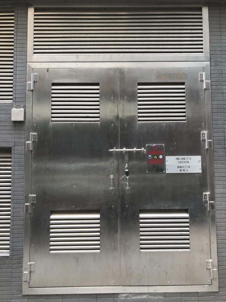 HKE港燈標準火牛房門,電站房不鏽鋼防火閘門,港燈標準不鏽鋼防火門,港燈標準電線房門,火牛房防火門,金屬閘門