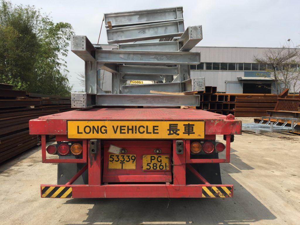 香港德福廣場熱浸鋅鋼鐵支架-德福廣場鋼鐵工程-铅水工字鋼架-冷氣機架鋼鐵工程-熱浸鋅H型鋼架工程
