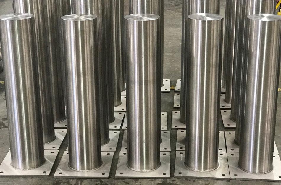香港不鏽鋼防撞柱-S316L不鏽鋼系纜柱-S316不鏽防撞柱-不鏽鋼反光警示柱-機場不銹鋼防撞柱