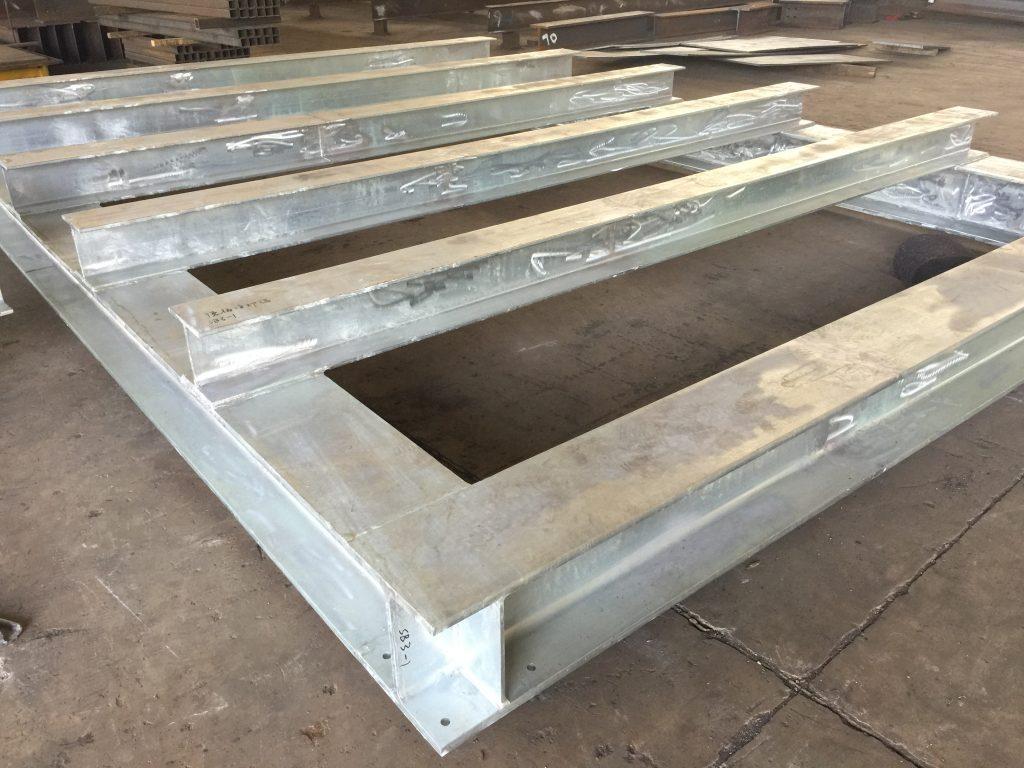 污水處理廠結構鋼架-水廠檢修平台鋼架-熱浸鋅鋼鐵支架-鋼結構樓梯-污水處理廠結構平台