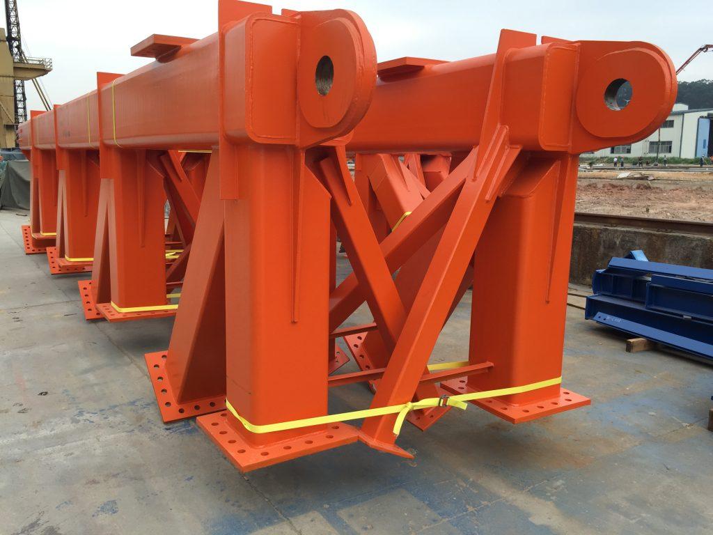 橋樑架橋機主體鋼架-架橋機部件-造橋機鋼架-造橋機鋼鐵工程-結構鋼材加工