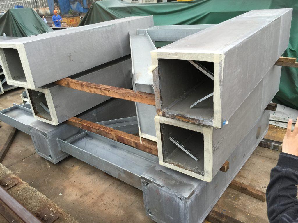 預製永久鋼鐵結構工程-焊接箱型柱-鋼板焊接口字型柱-燒焊工程-鋼結構桁架-GMS鋼材