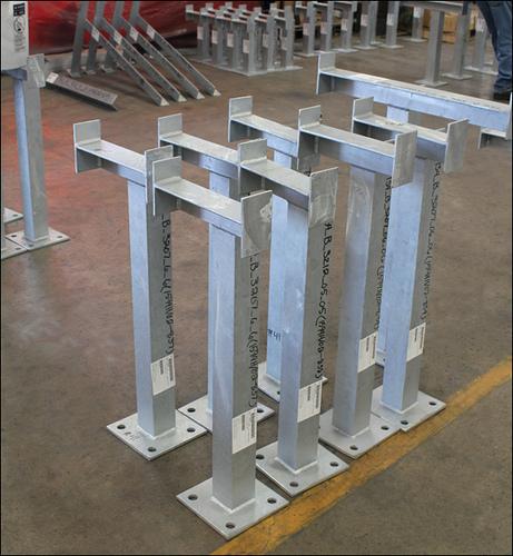香港電力系統支架-熱浸鋅喉箍支架-電纜金屬支架-隧道電纜線支架-隧道哈芬槽供應及安裝
