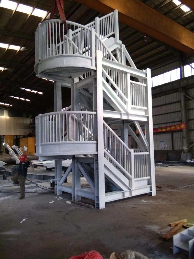 香港機場中電變電站樓梯,鋼結構室外樓梯,鋼結構樓梯,鐵器樓梯工程,室外消防樓梯,鋼結構走道工程