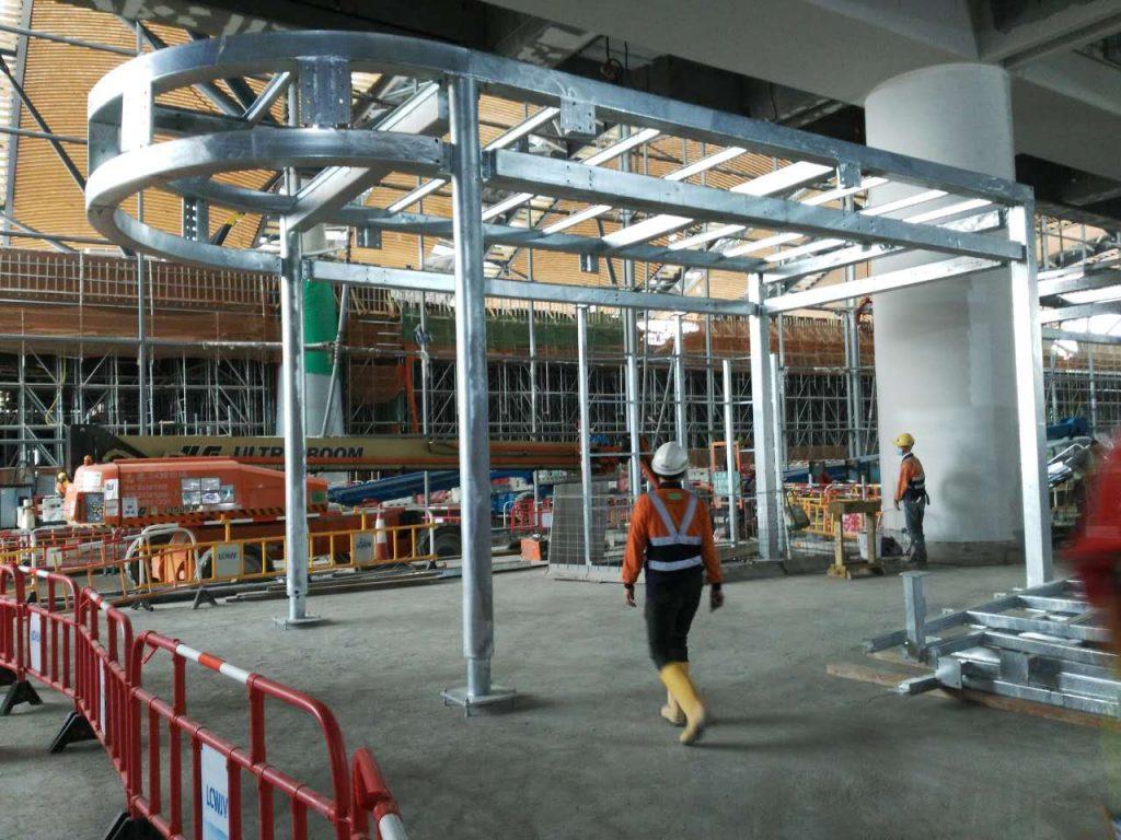港珠澳大橋香港人工島鋼結構,人工島鋼結構雨棚,鋼結構超市,鋼結構店鋪,鐵器工程