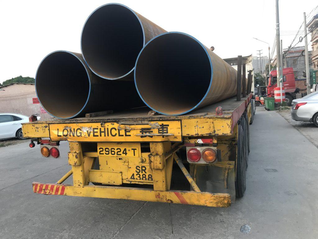 香港茶果嶺打樁鋼管813*16mm,S355J0H鋼管樁,S275J0H打樁鋼管,地基臨時圍令,地庫鑽孔鋼管樁,建築鋼管樁材料供應