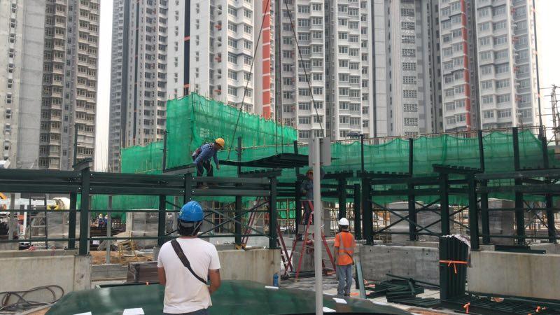 香港地盤臨時圍街板鐵器工程,房屋署圍街板工程,地盤臨時圍街大門坑板工程,地盤臨時圍街工程