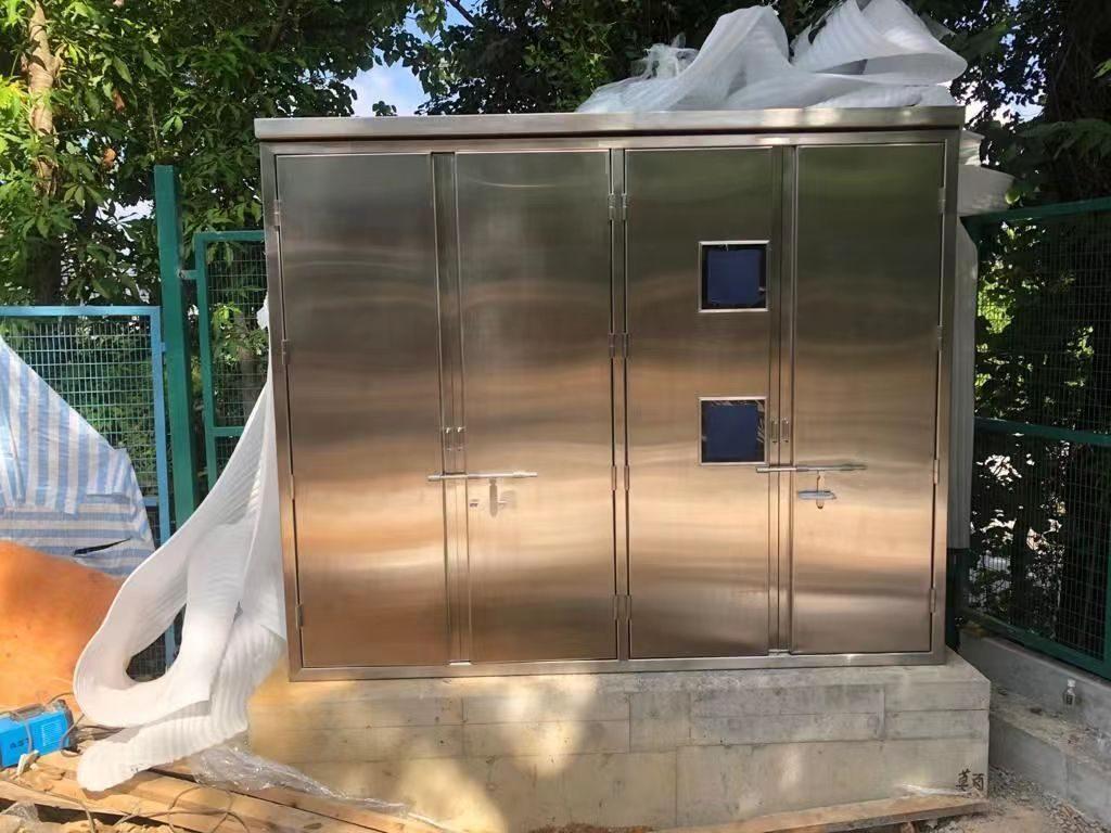 戶外不鏽鋼配電櫃,Stainless steel Pillar-Box,地盤不鏽鋼配電櫃,機電署標準電櫃(EMSD pillar box),水泵控制箱