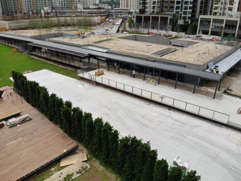 啟德車站廣場建造工程(第一期) 玻璃欄杆,鐵器工程,玻璃雨棚工程,鋼結構工程, 不鏽鋼工程